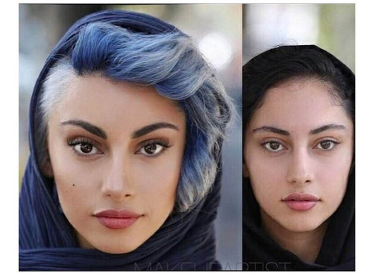 ترلان پروانه و تغییرات عجیب قبل و بعد گريم گشت ارشاد ٢ +عکس