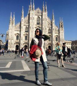 لیلا بلوکات در سفر به ایتالیا در تعطیلات نوروز +تصاویر