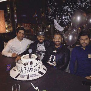 محمدرضا گلزار و کیک خاص تولدش +عکس