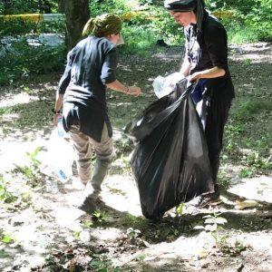 هدیه تهرانی و جمعآوری زباله