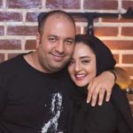 سلفی بی بهانه علی اوجی و همسر جانش در آسانسور!