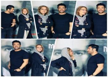 مهناز افشار و محمدرضا گلزار در بک استیج کنسرت گلزار