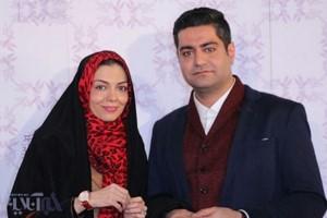 آزاده نامداری و همسرش در سی وششمین جشنواره ی فیلم فجر