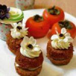 مینی کیک خرمالو، عصرانه خوشمزه پاییزی