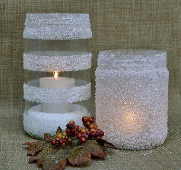 ساخت جا شمعی با وسایل دور ریختنی