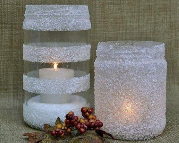 ساخت جا شمعی با وسایل دور ریختنی شیشه و چوب (۱) + تصاویر