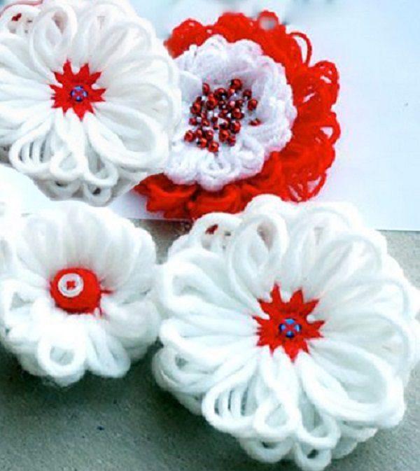 ساخت گل با کاموا