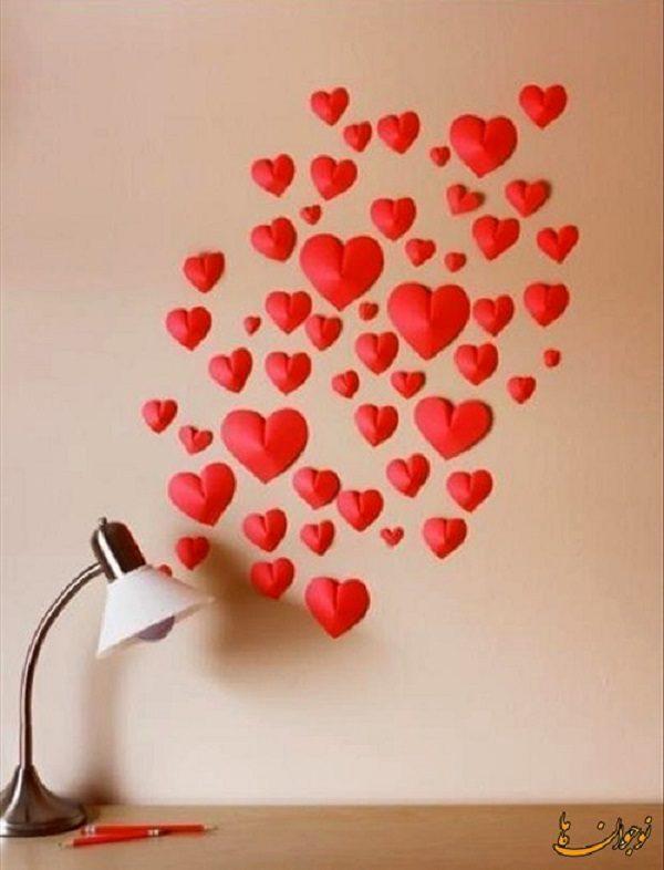 ساخت قلب با کاغذ رنگی