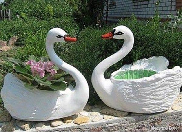 ساخت گلدان به شکل قو