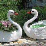 آموزش درست کردن گلدان به شکل قو با بطری + تصاویر