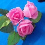 آموزش درست کردن گل رز با تور +تصاویر