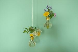 آموزش درست کردن گلدان لامپی به ساده ترین روش در منزل