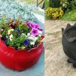 آموزش درست کردن گلدان با لاستیک +تصاویر