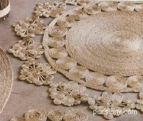 با نخ های کنفی فرشی زیبا درست کنید