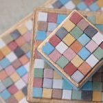 تزئین جعبه |آموزش تزئین جعبه با موزائیک های کوچک