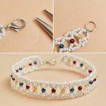 دستبند منجوقی   آموزش ساخت دستبند زیبا با منجوق های رنگی