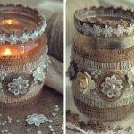 شمعدان شیشه ای |آموزش درست کردن شمعدان با شیشه خالی