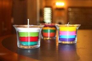 شمع لایه ای |آموزش درست کردن شمع لایه ای با مداد شمعی