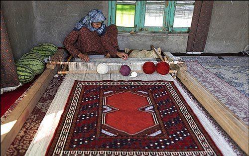 فرش ترکمن و تاریخچه آن