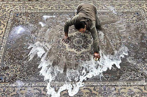 فرش دستباف چگونه شسته می شود؟