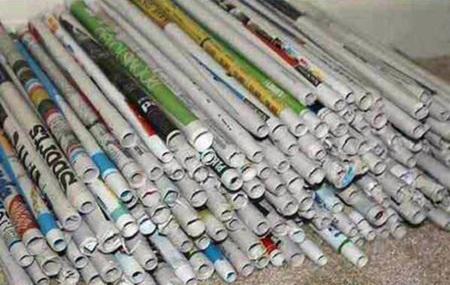کاردستی با چسب چوب و روزنامه