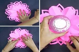 جاشمعی کاغذی | آموزش ساخت جاشمعی با کاغذ