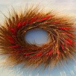 حلقه گل تزئینی| آموزش درست کردن حلقه گل تزئینی با شاخه های گندم