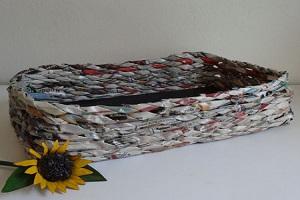 سبد کاغذی | آموزش درست کردن سبد با کاغذ