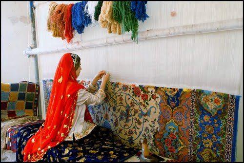 قالی بافی در ملایر
