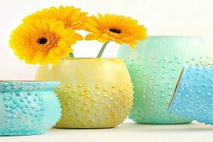 گلدان شیشه ای   آموزش درست کردن گلدان با شیشه