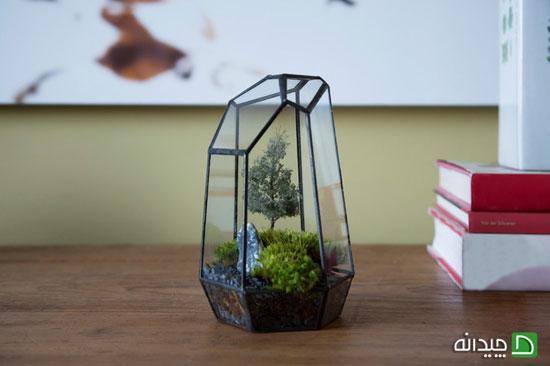 بایگانیها چگونه باغ شیشه ای درست کنیم - کاردستی... چگونه باغ شیشه ای درست کنیم. آموزش ساخت تراریوم , باغ شیشه ای کوچک  +تصاویر