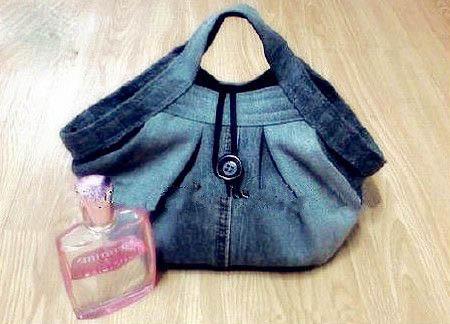 با شلوار جین کهنه کیف دستی زیبا درست کنید +تصاویر