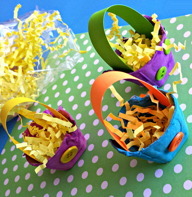 آموزش درست کردن سبد با شانه تخم مرغ +تصاویر