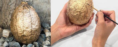 آموزش درست کردن تخم مرغ طلایی با بادکنک +تصاویر