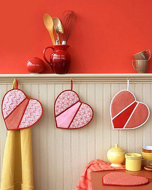 چگونه دستگیره آشپزخانه را به شکل قلب بدوزیم ؟+تصاویر
