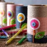آموزش درست کردن جامدادی رومیزی با مقوای دستمال +تصاویر