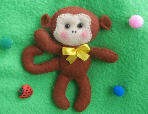 چگونه با نمد میمون درست کنیم؟ +تصاویر