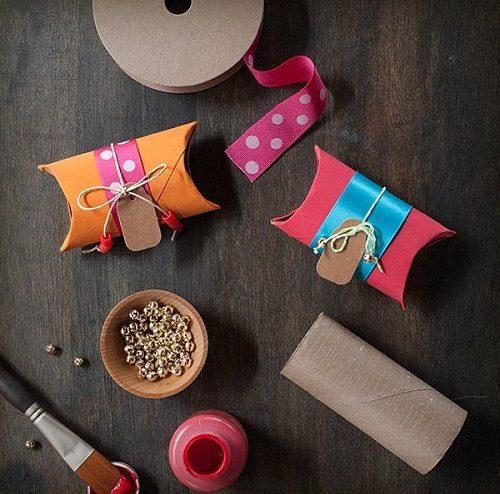 آموزش درست کردن جعبه کادوی فانتزی با لوله مقوایی +تصاویر