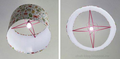 ساخت لوستر کاغذی با بطری پلاستیکی +تصاویر