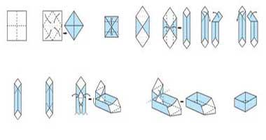 جعبهای از جنس کاغذهای رنگی