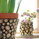 تزئین کردن گلدان با چوب های خشک +تصاویر