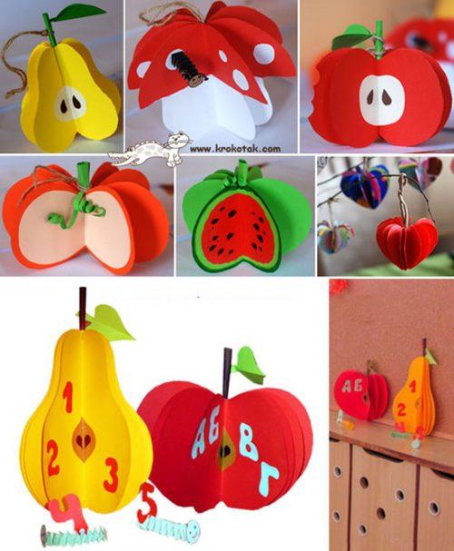 میوه های کاغذی درست کنید +تصاویر