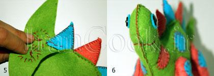 آموزش درست کردن عروسک نمدی دایناسور +تصاویر