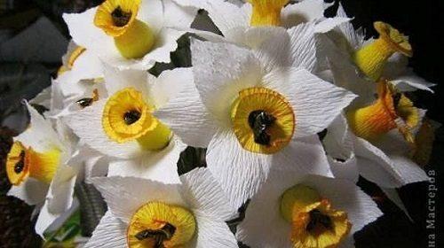آموزش درست کردن گل نرگس با کاغذ کشی +تصاویر