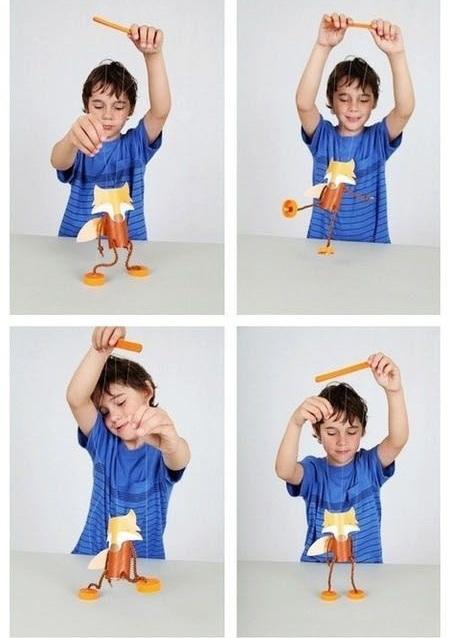 روباه نخی , کاردستی جذاب و متفاوت برای بچه ها +تصاویر