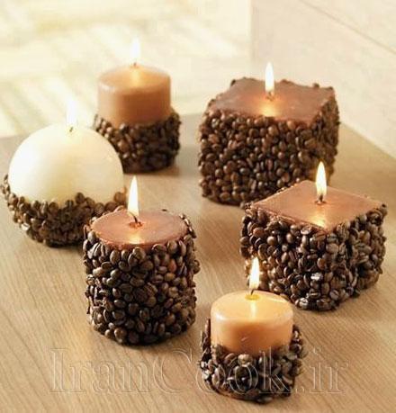آموزش درست کردن شمع با قهوه +تصاویر