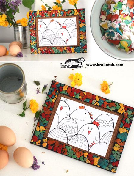تزیین وسایل با پوسته تخم مرغ +تصاویر