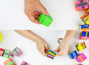 آموزش درست کردن مکعب رنگی با لوله مقوایی +تصاویر