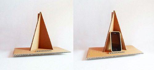چگونه با مقوا پایه نگهدارنده موبایل درست کنیم؟ +تصاویر