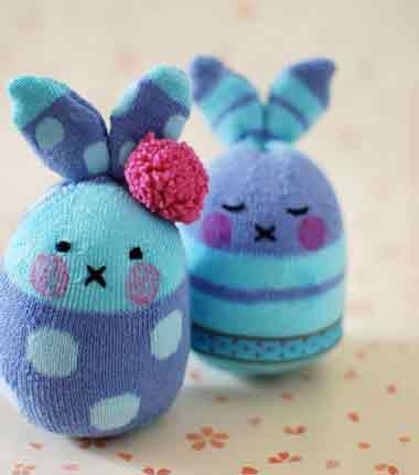 خرگوش بامزه برای کوچولوها ، با وسایل کهنه فرزندانتان + تصاویر